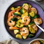 Freaking Fast Sautéed Shrimp with Zucchini