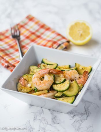Sauteed shrimp zucchini