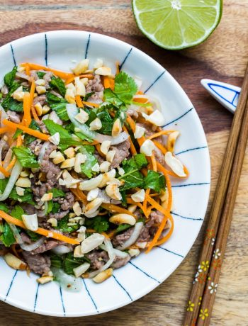 Vietnamese Rare beef in lime juice salad