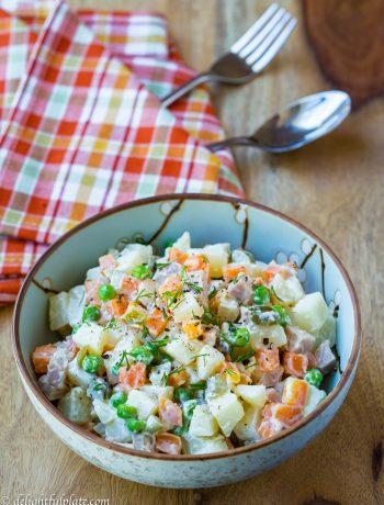 A colorful Vietnamese potato salad