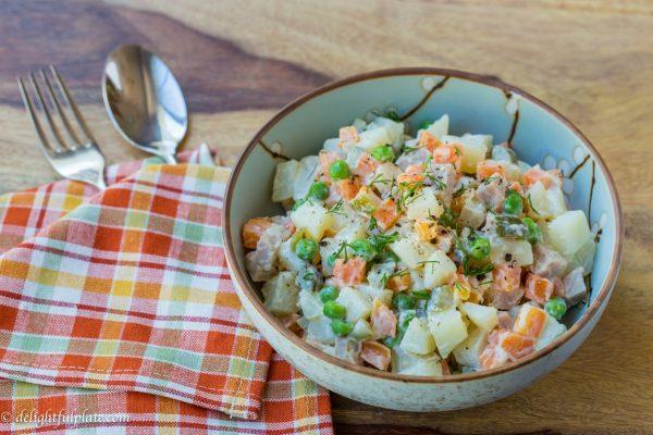 Vietnamese potato salad Russian salad