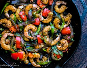 Asian shrimp veggies stir fry