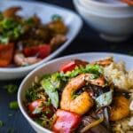 Asian Shrimp and Vegetable medley Stir-fry