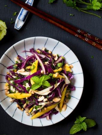 Crunchy Chicken Cabbage Mango Salad