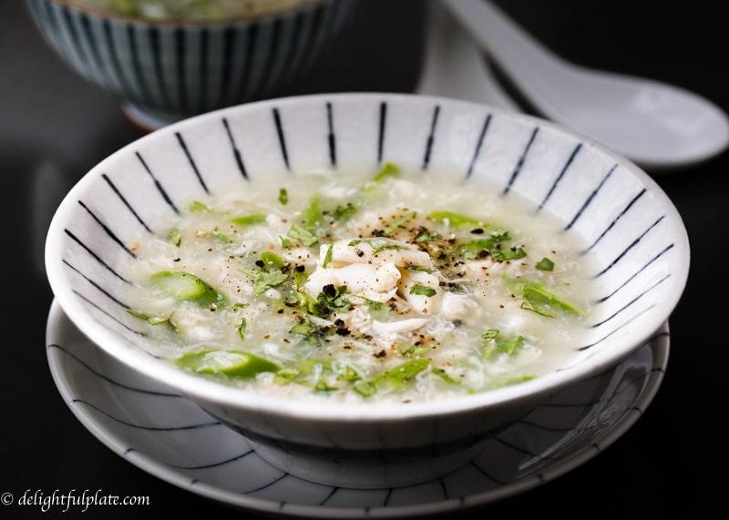 Vietnamese crab asparagus soup