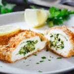 Basil Spinach Stuffed Chicken Breast
