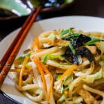 Vegetarian Tofu Yaki Udon