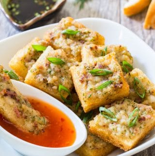 Vietnamese Squid Cake on Toast (or Squid Toast)