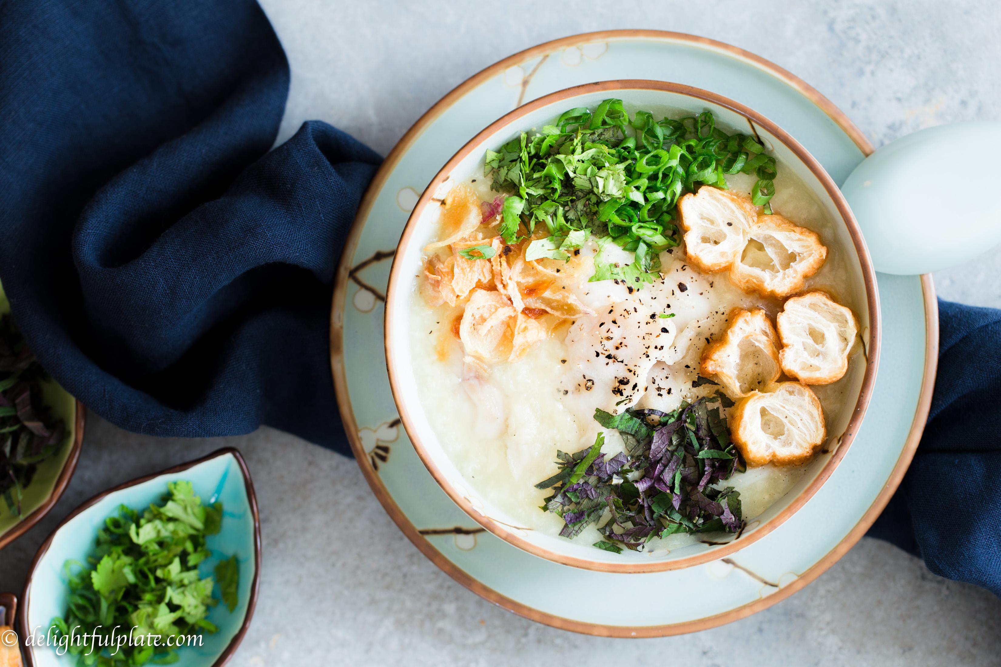 Vietnamese fish rice porridge (Chao ca)