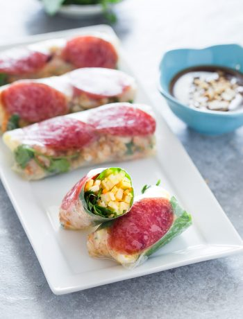 Vietnamese fresh spring rolls with jicama and egg make fun and refreshing appetizers with plenty of crunchiness and flavors.