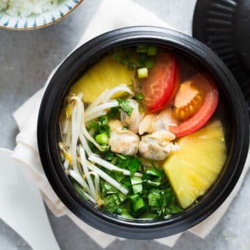 Vietnamese Sweet and Sour Clam Soup (Canh ngao chua) is light in body. However, it is full of sophisticated flavors while being so quick and easy to make.