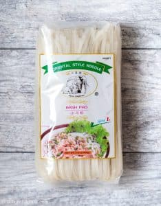 Rice Noodles (Pho) from Three Elephant brand. Great texture and taste.