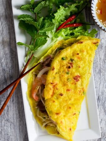 Sizzling Vietnamese Crepe (Banh Xeo)