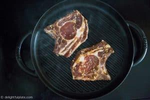 Grilling Vietnamese grilled pork chops