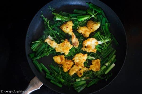 Cooking Vietnamese turmeric fish