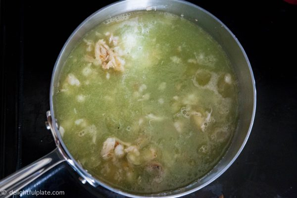Cooking Seafood Opo Squash Soup