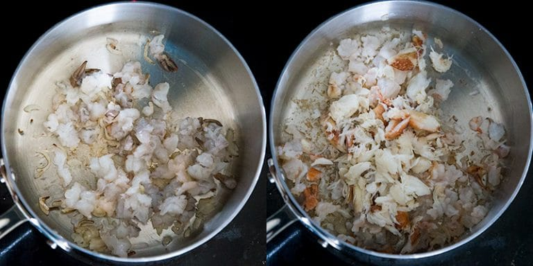 Cooking shrimp and crab