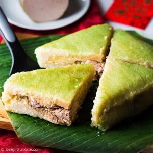 Square Sticky Rice Cake is an important component in Vietnamese Lunar New Year Feast.