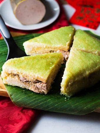 Vietnamese Square Sticky Rice Cake (Banh Chung)