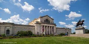 St. Louis Art Museum, located in Forest Park, perfect for a weekend getaway trip