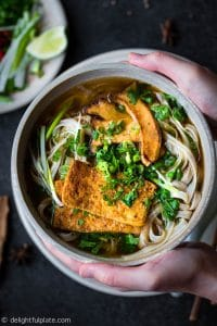 This Vietnamese Vegan Pho Noodle Soup (Pho Chay) is so hearty with deep savory flavors. While this vegan pho is quicker to make than traditional beef pho, it is just as comforting and delicious.
