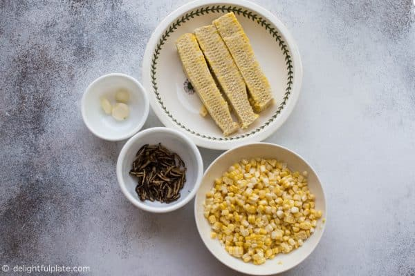 Ingredients for Chicken Corn Soup