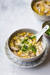This tasty and healthy Vietnamese Chicken Corn Soup (sup ngo ga nam) can be made in half an hour with a pressure cooker. So easy and convenient.