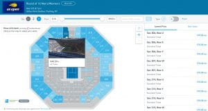 Standard tickets US Open Tennis Tournament on sale