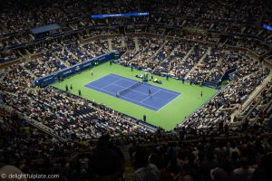 US Open Arthur Ashe stadium - view from N row promenade level