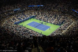 US Open Arthur Ashe stadium - view from last promenade row