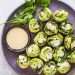 Lobster Fresh Spring Rolls with Sesame Dipping Sauce
