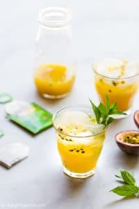 This Passion Fruit Iced Tea (Tra Chanh Leo) is a perfect drink to beat the heat in the summer. It is easy to make with 4 simple ingredients and also refined-sugar free.