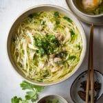 Vietnamese Chicken Vermicelli Noodle Soup (Bun Ga)