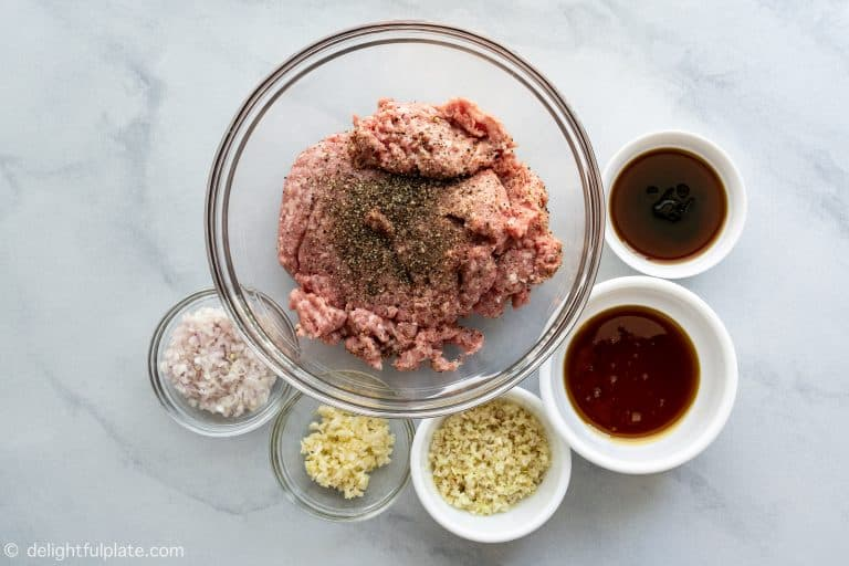 Ingredients for Vietnamese Grilled Pork Meatballs