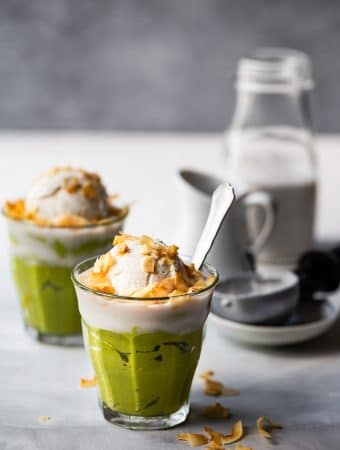 Vietnamese Avocado Mousse Ice Cream (Kem Bo)