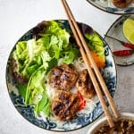 Authentic Bun Cha - Vietnamese Grilled Pork Meatballs with Noodles