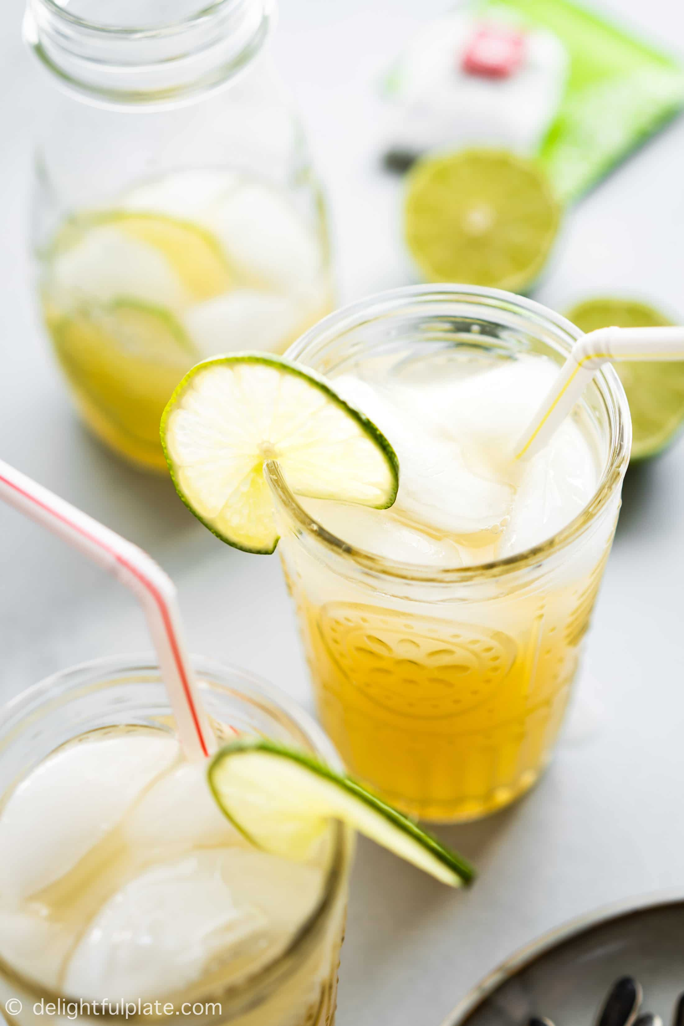 Vietnamese Lime Iced Tea (Tra Chanh Hanoi) is a refreshing and thirst-quenching drink for summer. It is very quick and easy to make with simple ingredients.