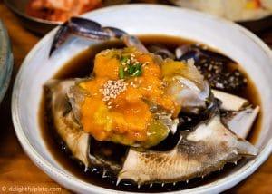 Seoul Food Travel Guide - Must Eats - Ganjang Gejang (raw crab marinated in soy sauce)