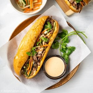 Slow Cooker Vietnamese Pulled Pork Banh Mi