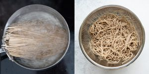 Cooking dried soba noodles