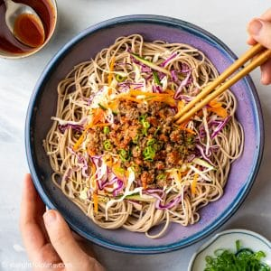 Spicy Beef Soba Noodle Salad - a quick and easy salad. It is flavorful, healthy and fulfilling.
