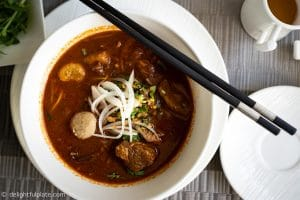 Food in Siem Reap - Beef stew noodle soup at Malis restaurant