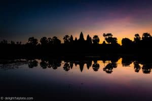Must See in Siem Reap - Angkor Wat at sunrise with reflection