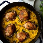 One Pan Chicken and Turmeric Rice