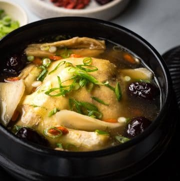 Vietnamese Coconut Herbal Chicken Soup (Ga Ham Thuoc Bac Nuoc Dua) is not only delicious, but it can also warm and heal your body. It will provide you with energy to fight off illnesses in colder months.