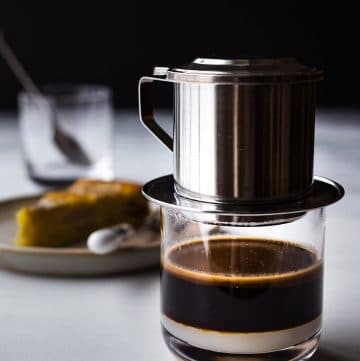 Vietnamese Coffee (Cafe Sua Nong) is a popular beverage drink in Vietnam. Learn how to make it the traditional way with a phin coffee filter.