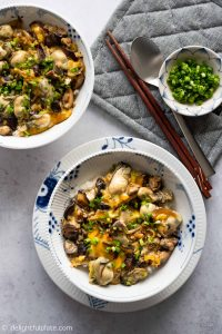 Mushroom Oyster Rice Bowl (Oyster Donburi) is a delicious, healthy and easy one-bowl meal that can be put together in 20 minutes with only one pan. It is a perfect dish for busy weeknights.