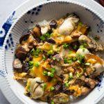 Mushroom Oyster Rice Bowl (Oyster Donburi)