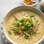 Pressure Cooker Chicken Congee with Brown Rice