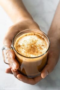 This tasty homemade caffè mocha uses Vietnamese coffee instead of espresso. It is an intense and aromatic coffee beverage with chocolatey flavors.